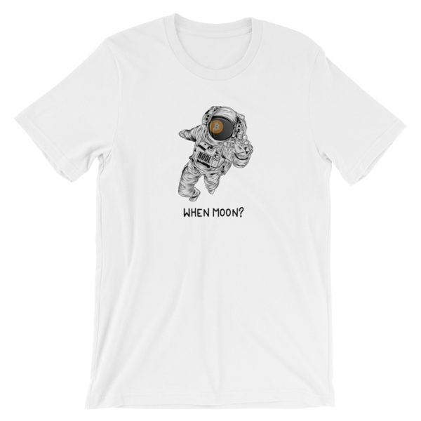 When Moon? Funny Bitcoin T-Shirt